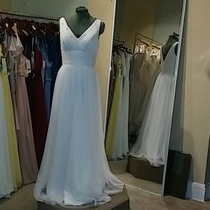 NWT White floor length gown